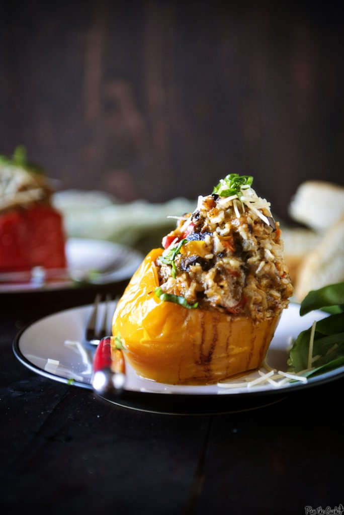 Slow Cooker Italian Stuffed Peppers | Kita Roberts GirlCarnivore.com
