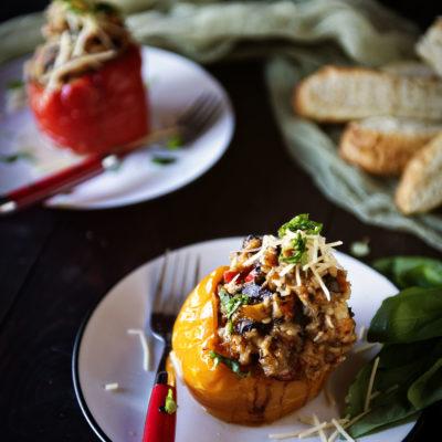Slow Cooker Italian Stuffed Peppers | Kita Roberts GirlCarnivore.com