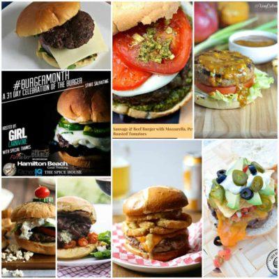 Burger Month Week Three Recipe Round Up