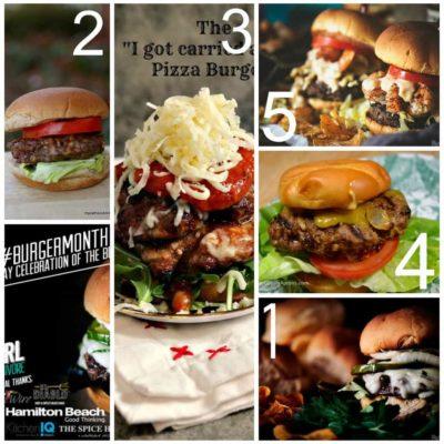 Burger Month Week One Recipe Round Up