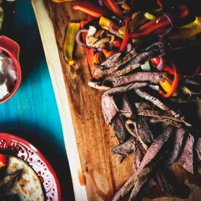 Beer Marinated Steak Fajitas