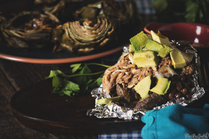 This BBQ Pork Stuffed Sweet Potato Pile is the leftover meal you've been looking for.