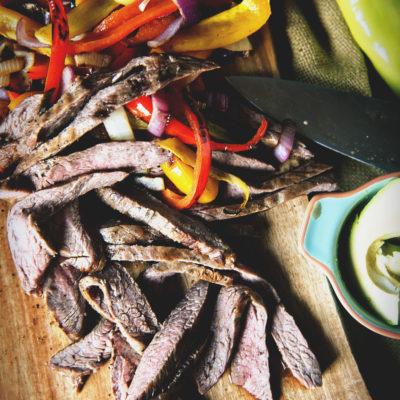 Beer Marinated Steak Fajitas | Kita Roberts GirlCarnivore.com