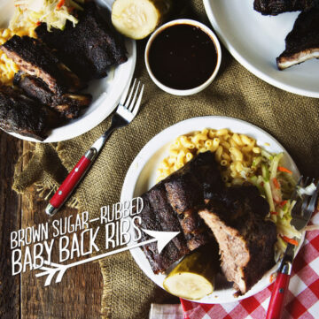 Brown Sugar-Rubbed Baby Back Ribs | Kita Roberts GirlCarnivore.com
