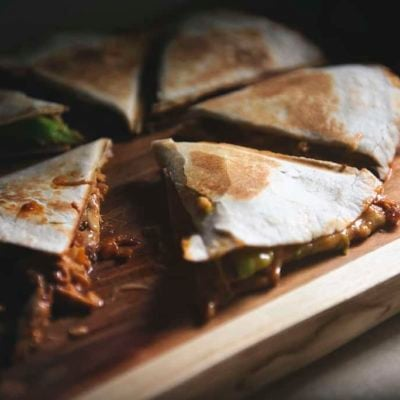 Zesty Ranch BBQ Bacon Chicken Quesadilla