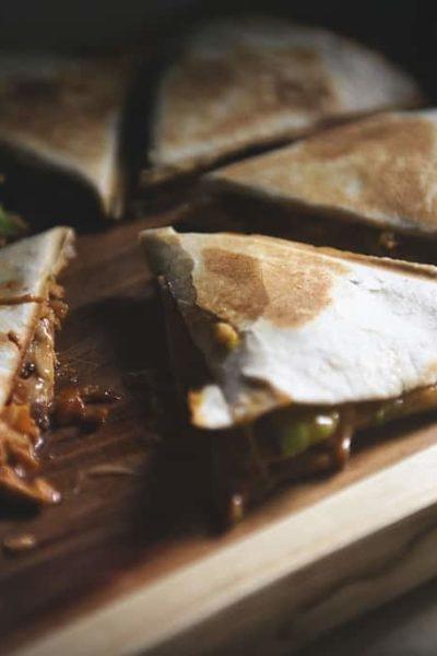 Zesty Ranch BBQ Bacon Chicken Quesadilla