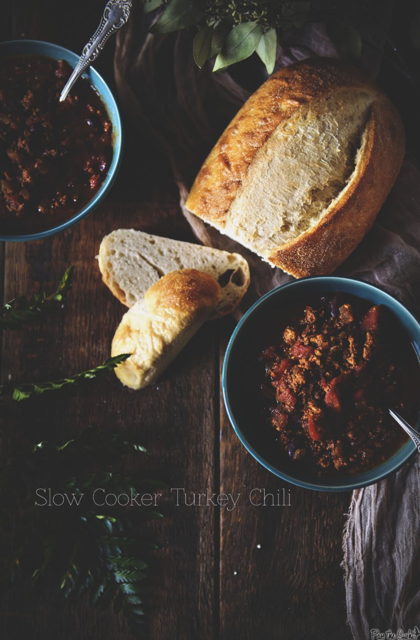 Slow Cooker Turkey Chili | Kita Roberts GirlCarnivore.com