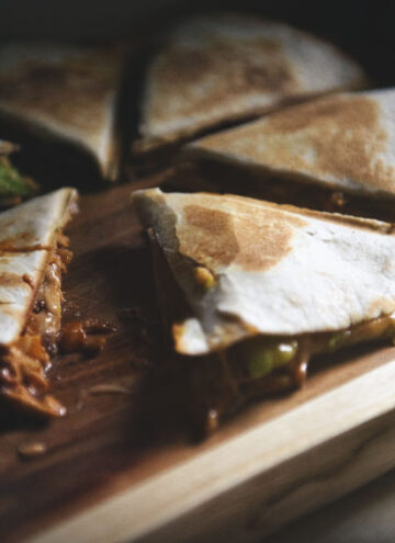 Zesty Ranch BBQ Bacon Chicken Quesadilla | Kita Roberts GirlCarnivore.com