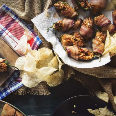 Bacon Wrapped Chorizo Stuffed Jalapeno Poppers
