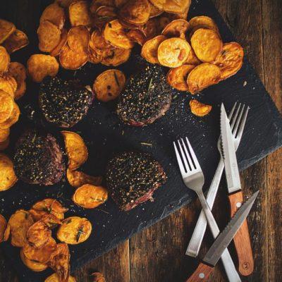 Peppercorn Crusted Filets