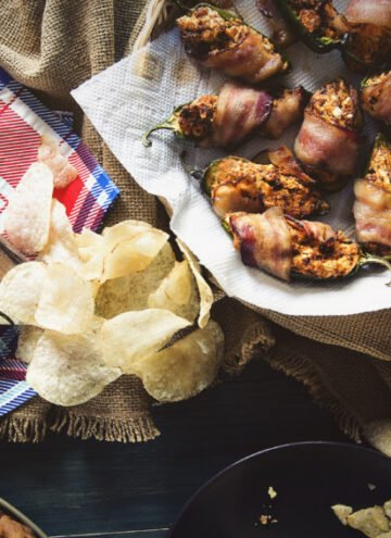 Bacon Wrapped Chorizo Stuffed Jalapeno Poppers | Kita Roberts GirlCarnivore.com