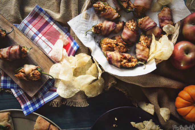 Bacon Wrapped Chorizo Stuffed Jalapeno Poppers | Kita Roberts GirlCarnivore.com