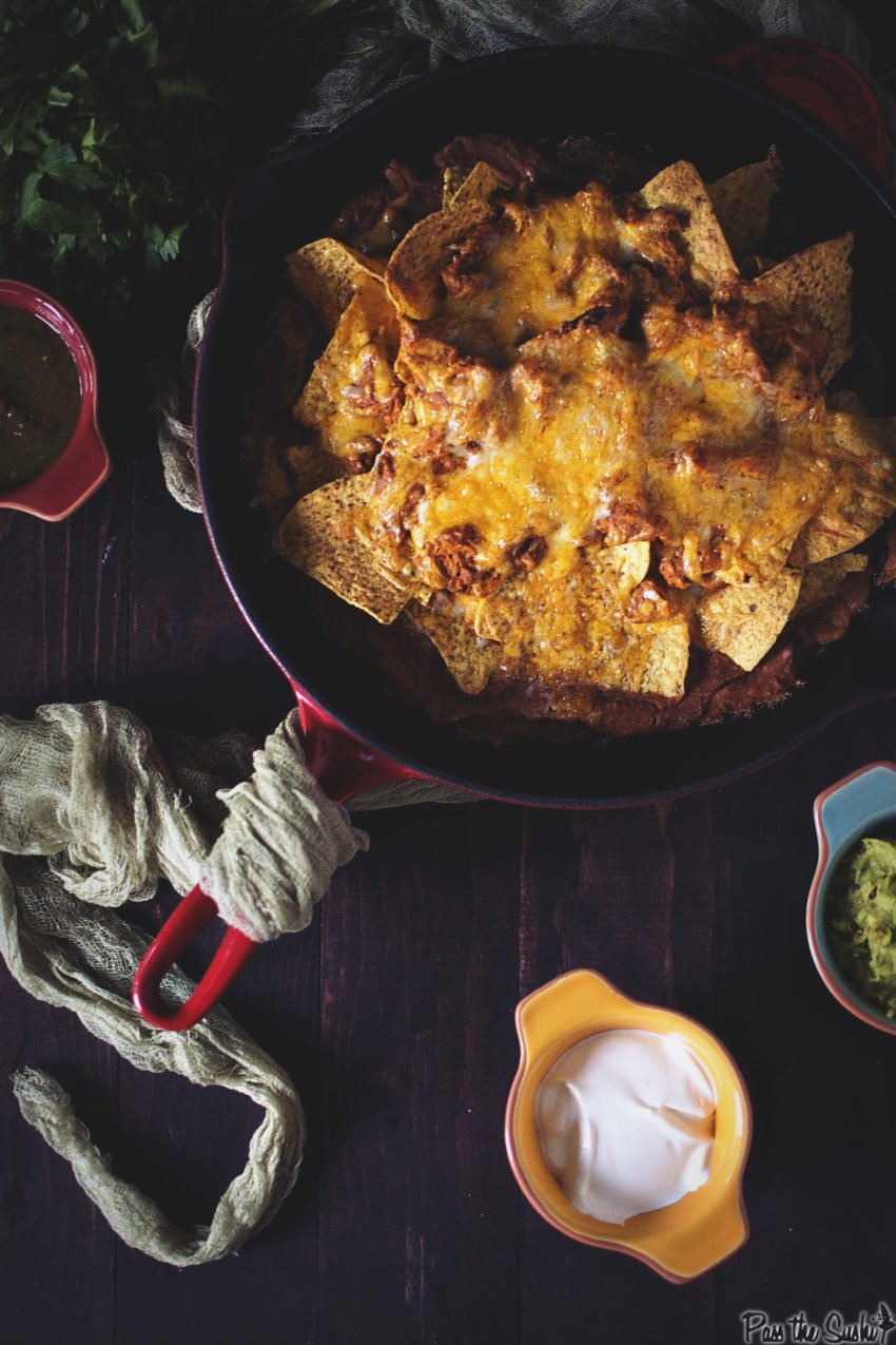 Chicken Enchilada Nachos | Kita Roberts GirlCarnivore