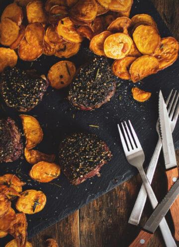 Peppercorn Crusted Filets | Kita Roberts GirlCarnivore.com