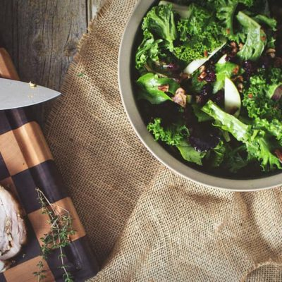 Kale & Apple Salad with Warm Bacon Vinaigrette