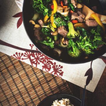 Steak and Broccoli Stir Fry | Kita Roberts GirlCarnivore.com