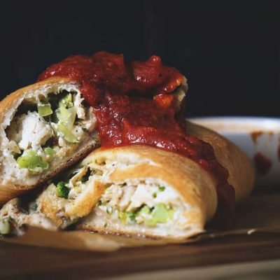 Weeknight Chicken and Broccoli Stromboli