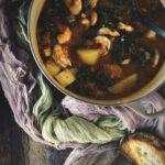 Shrimp and Chorizo Stew | Kita Roberts PassTheSushi.com