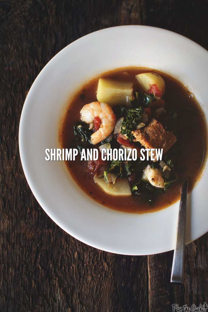Shrimp and Chorizo Stew | Kita Roberts PassTheSushi.com