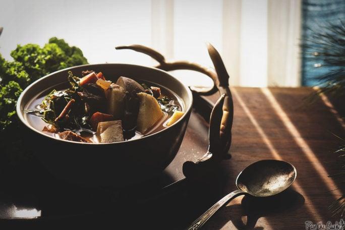 Slow Cooker Loaded Veggie Beef Stew | Kita Roberts GirlCarnivore.com