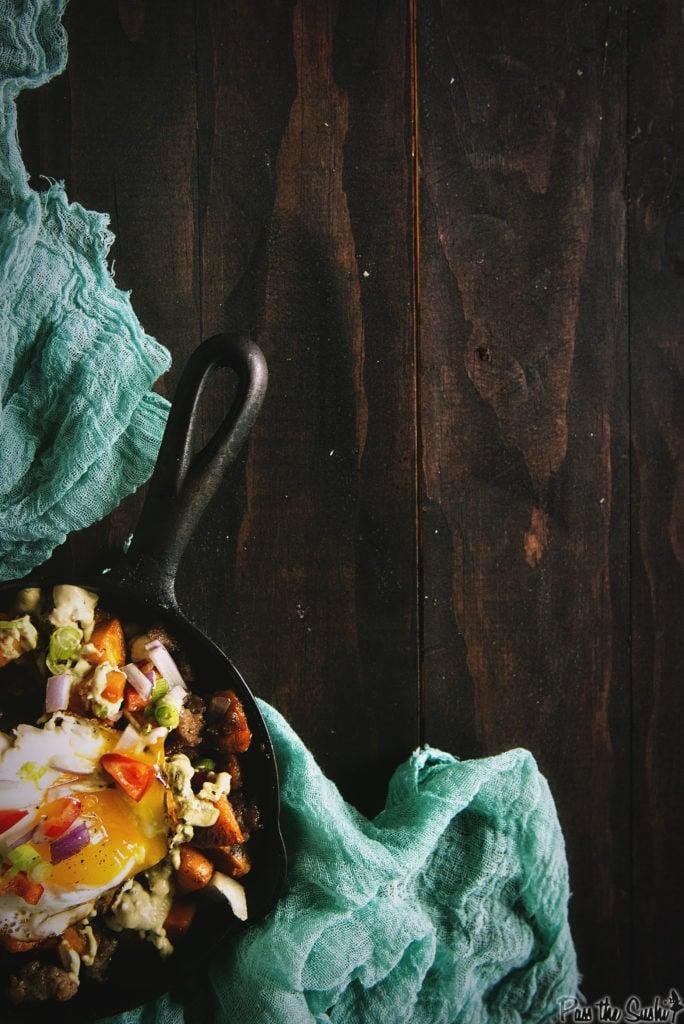 Sweet and Spicy Sausage Hash | Kita Roberts GirlCarnivore.com