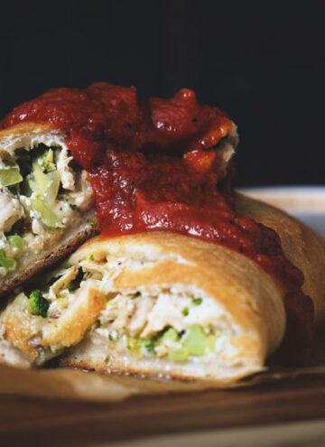 Weeknight Chicken and Broccoli Stromboli | Kita Roberts GirlCarnivore.com