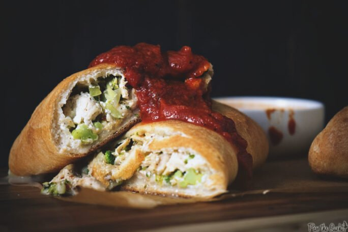 Weeknight Chicken and Broccoli Stromboli | Kita Roberts GirlCarnivore.com