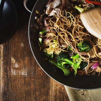 Weeknight Wok Fried Pork Lo Mein