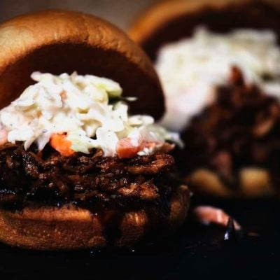 Slow Cooker Balsamic and Honey Pulled Pork Sliders