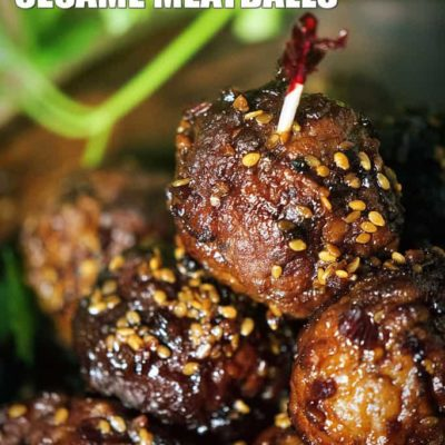 Super Easy Slow Cooker Sesame Meatballs