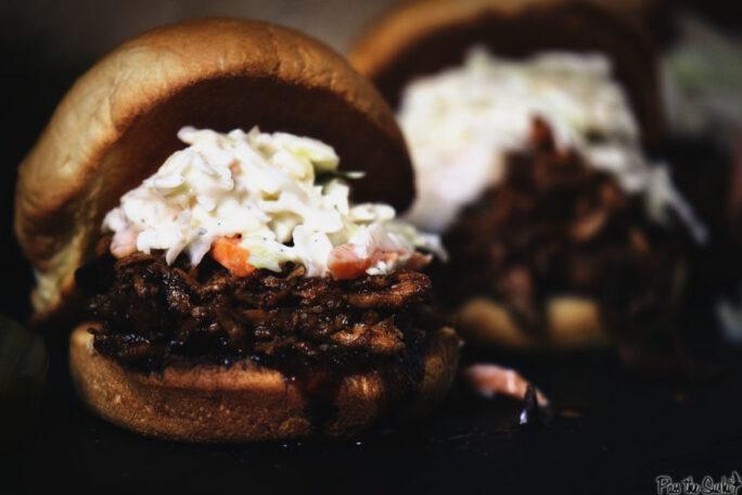 Slow Cooker Balsamic and Honey Pulled Pork Sliders | Kita Roberts GirlCarnivore.com
