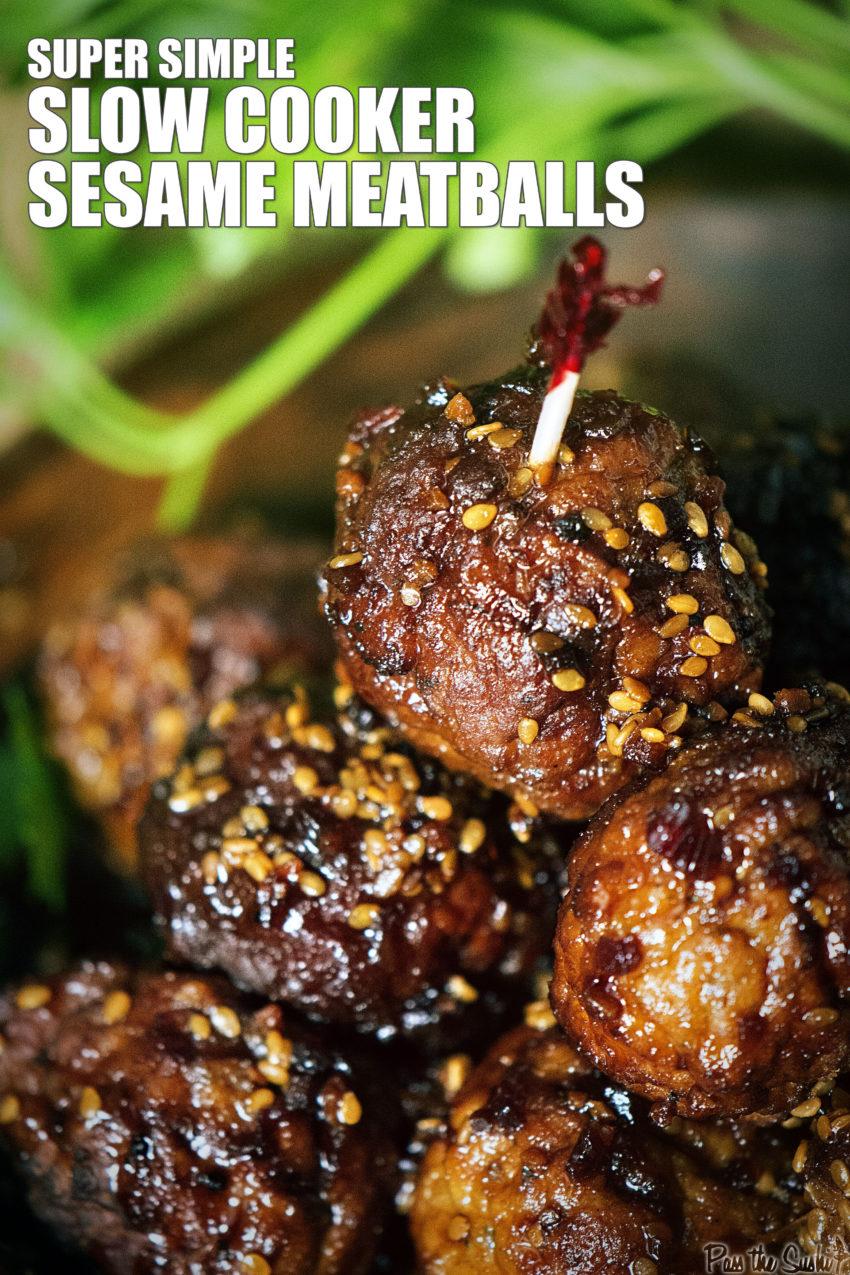 Slow Cooker Sesame Meatballs | Kita Roberts GirlCarnivore.com