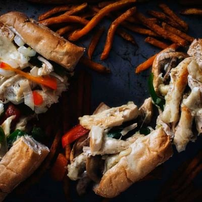 Chicken Cheesesteaks