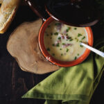 Cheesy Cauliflower and Ham Soup | Kita Roberts PassTheSushi.com