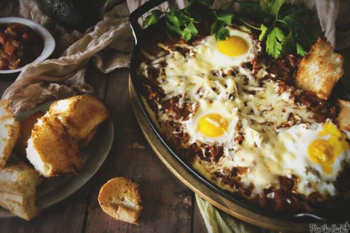 Salsa Baked Huevos | Kita Roberts GirlCarnivore.com