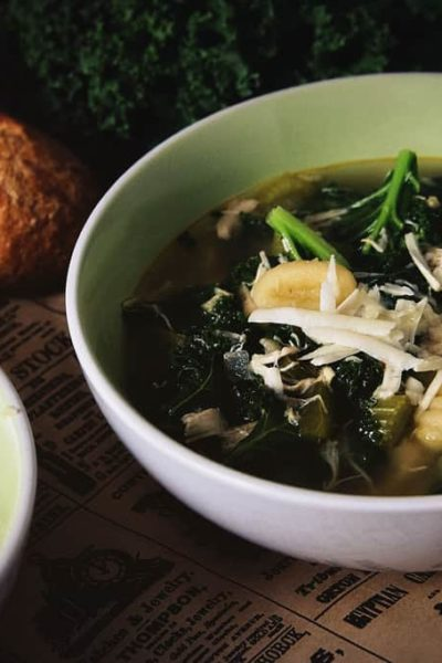 Chicken, Gnocchi and Kale Soup