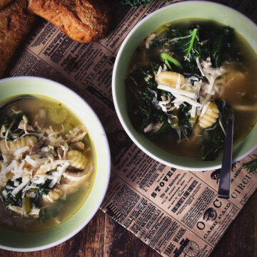 Chicken, Gnocchi and Kale Soup | Kita Roberts GirlCarnivore.com