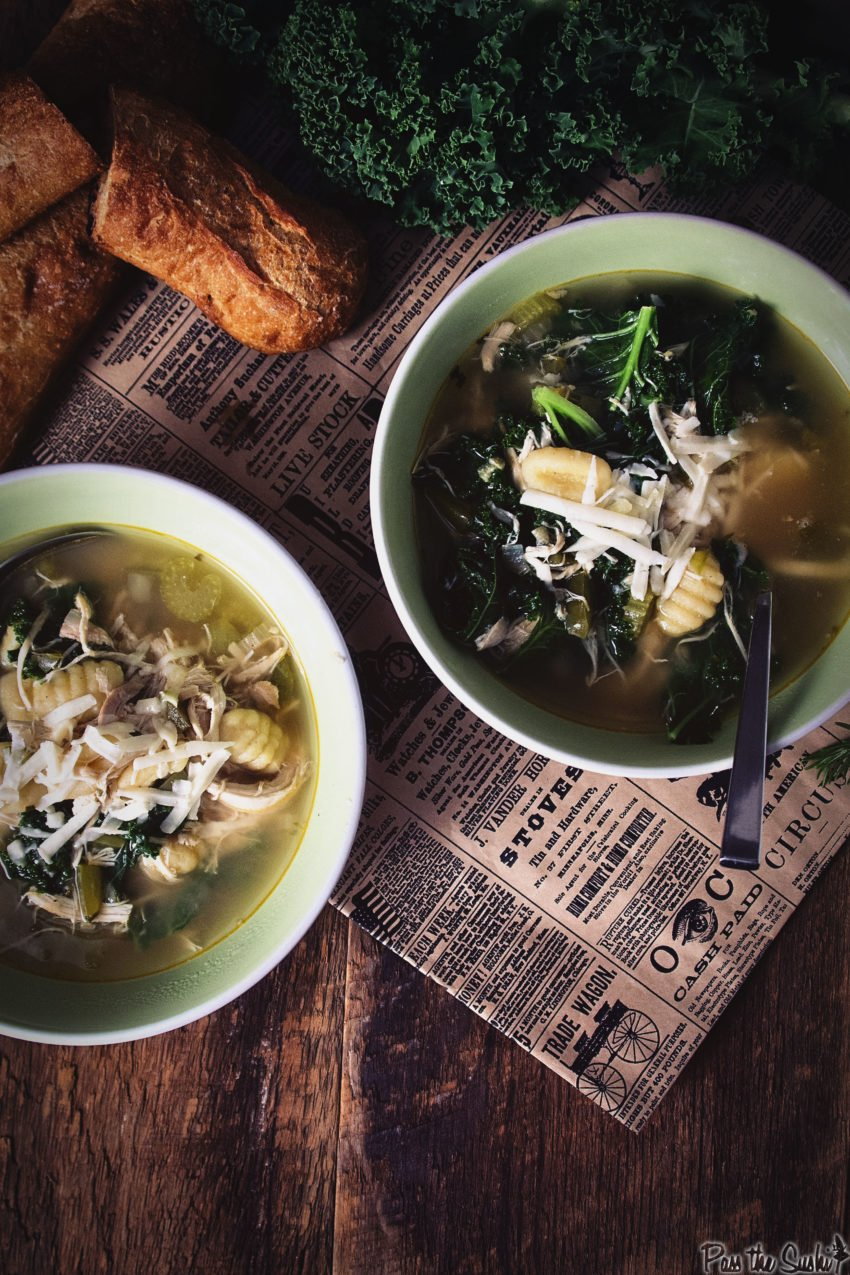 Chicken, Gnocchi and Kale Soup | Kita Roberts GirlCarnivore.com