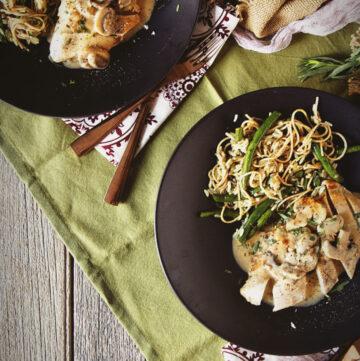Chicken in Tarragon Cream Sauce with Green Rice Pilaf | Kita Roberts GirlCarnivore