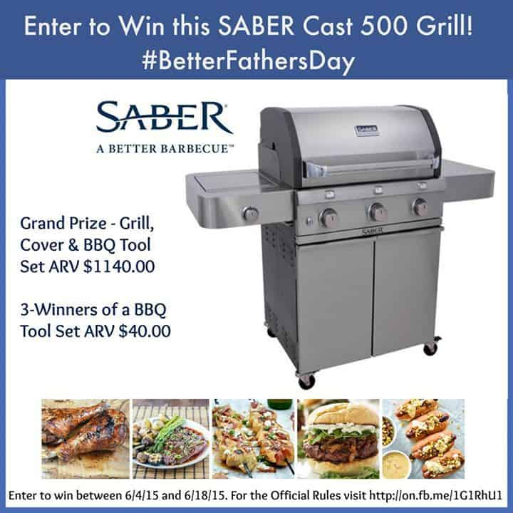#BetterFathersDay Saber Grill Giveaway
