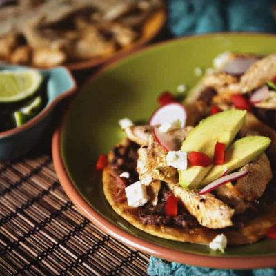 Weeknight Chicken Tostadas