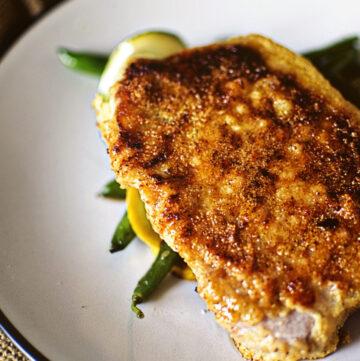 Cornmeal Coated Skillet Pork Chops | Kita Roberts GirlCarnivore.com