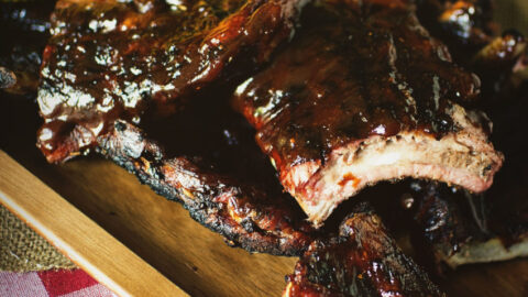 Grilled Barbecue Baby Back Ribs