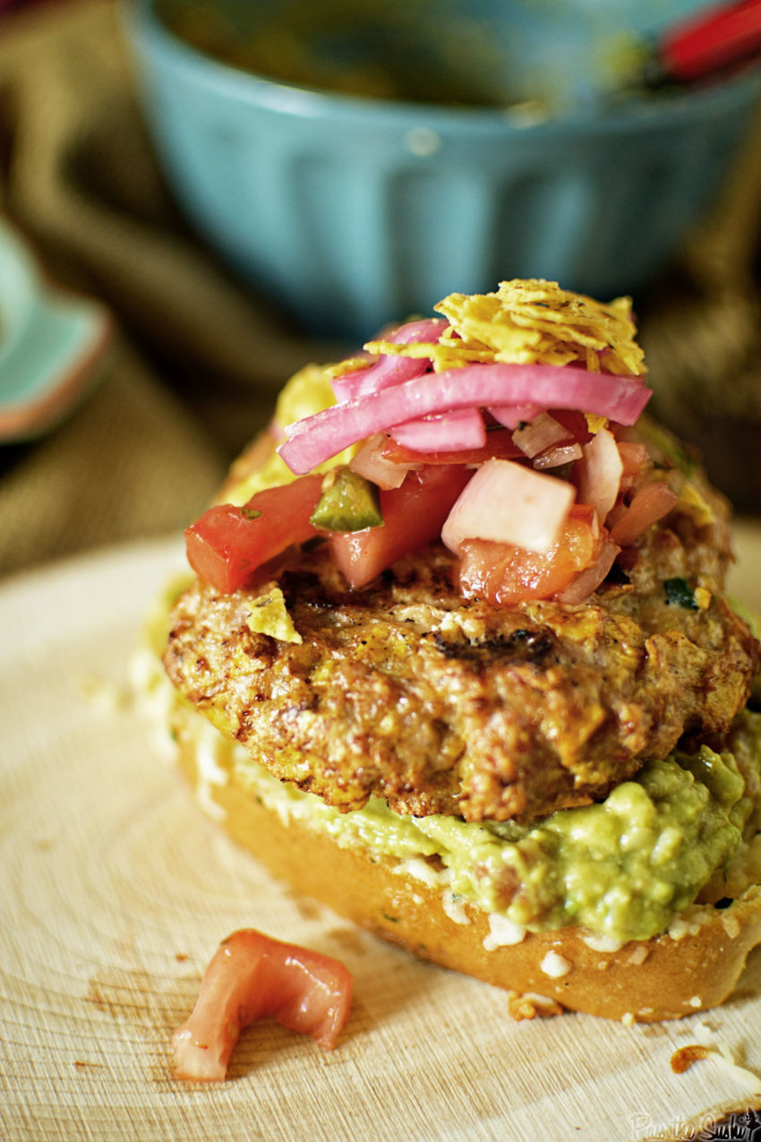 Southwest Chicken Burger | Kita Roberts GirlCarnivore.com