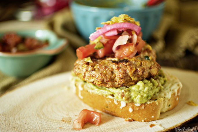 This Southwest Chicken Burger is ready for it's cameo! Just look at that plump patty, guac and toppings!