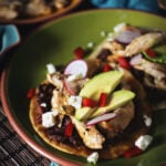 Weeknight Chicken Tostadas | Kita Roberts GirlCarnivore.com
