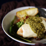 Skillet Mozzarella Chicken with Pesto | Kita Roberts GirlCarnivore.com