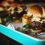 Cheddar Stuffed Apple Slaw Burger