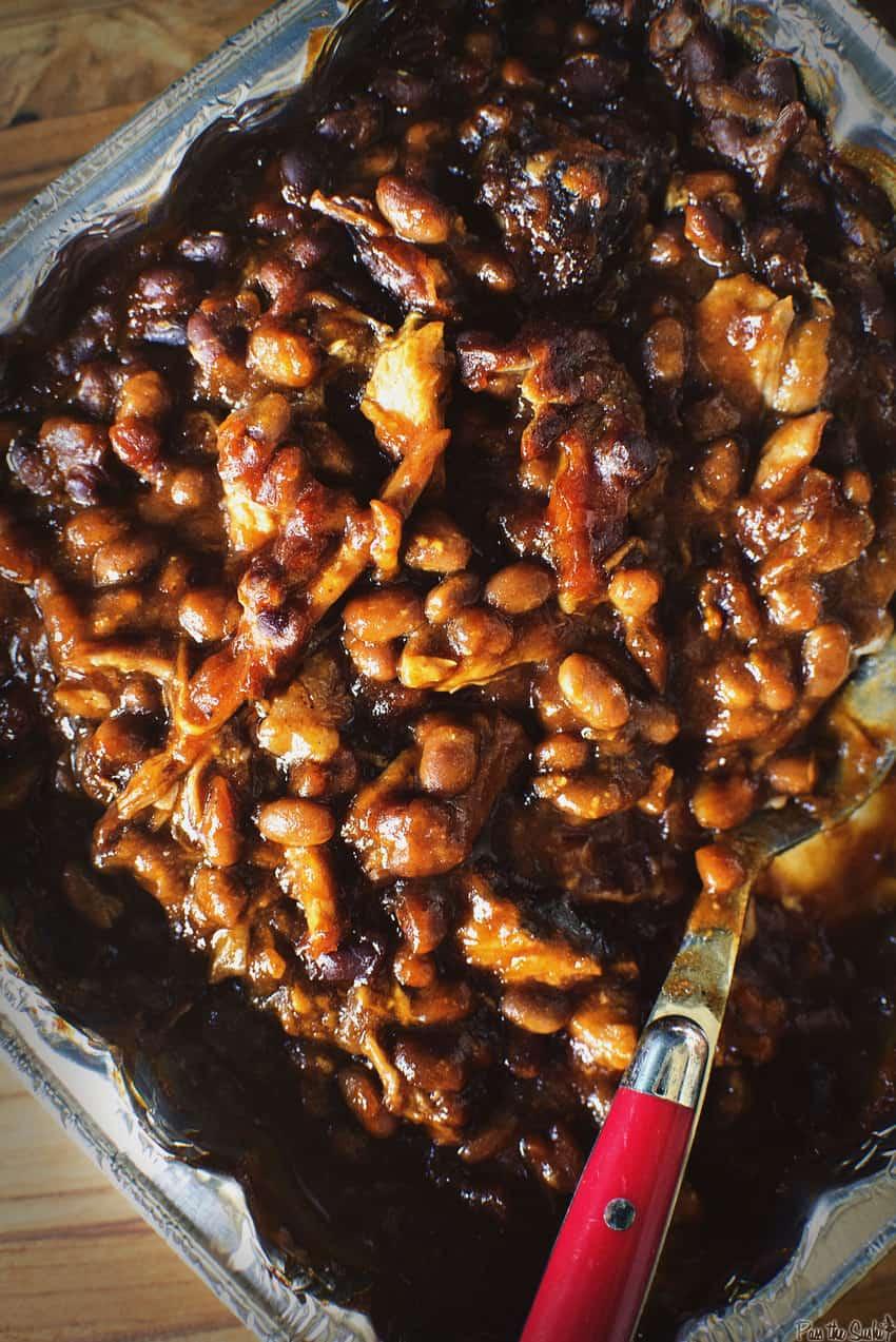 Smoked Barbecue Pork and Beans Recipe / GirlCarnivore.com