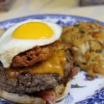 Corn Fritter Breakfast Burger